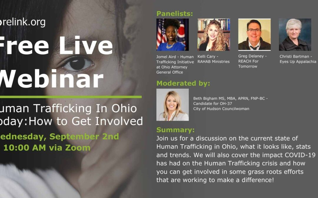 "Webinar – ""Human Trafficking In Ohio Today: How to Get Involved"""